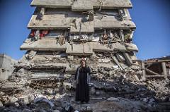 Turkin terrorisminvastaisen operaation tuottamaa tuhoa Cizressä, Turkin kurdialueella vuonna 2016. Kuva:  Nedim Yılmaz
