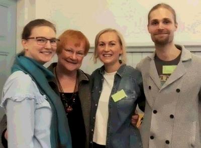 Presidentti Tarja Halosen vierailu jäi monille mieleen.