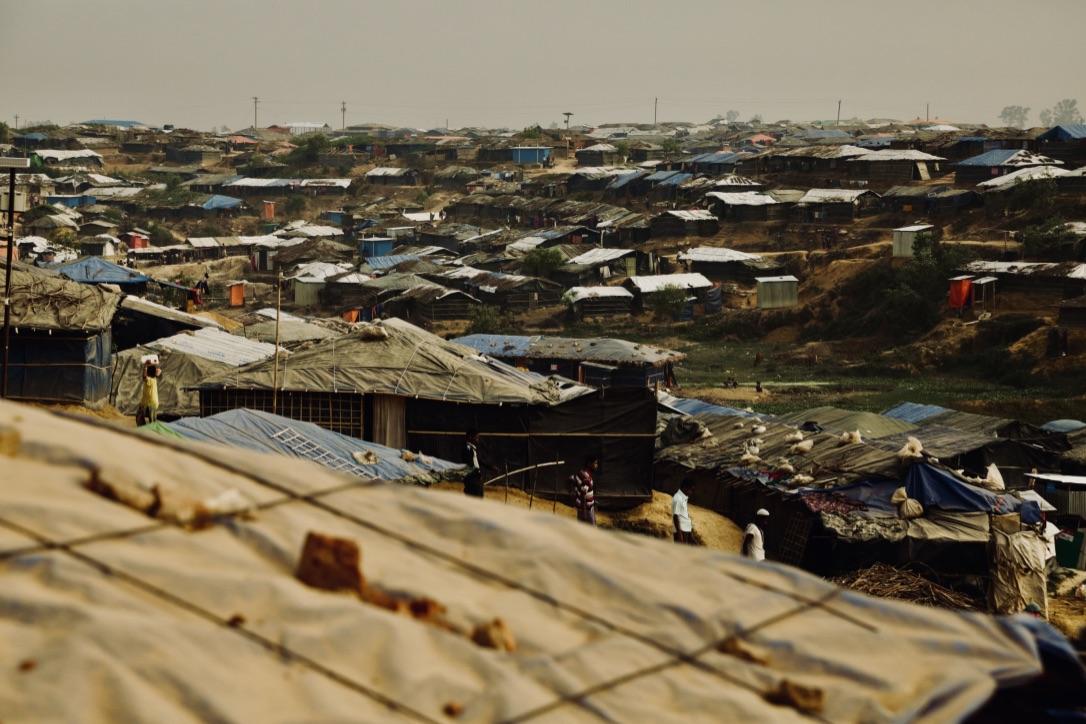 Rohingya-pakolaisten leiri Bangladeshissa. Kuva: Russel Watkins.